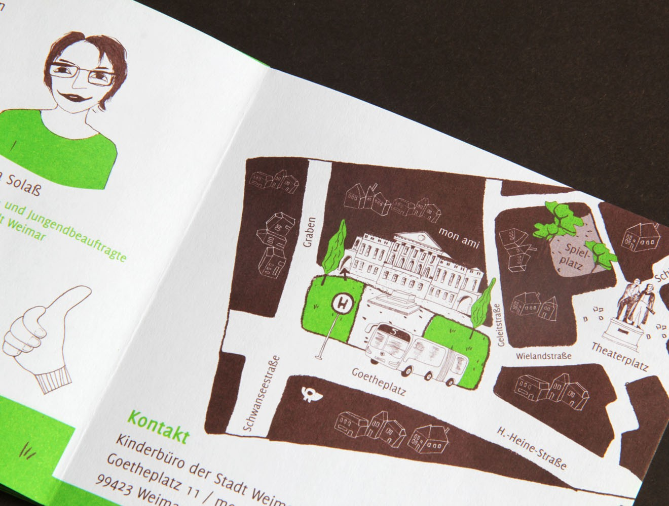 Kinderbüro // Leporello / Stadtplan