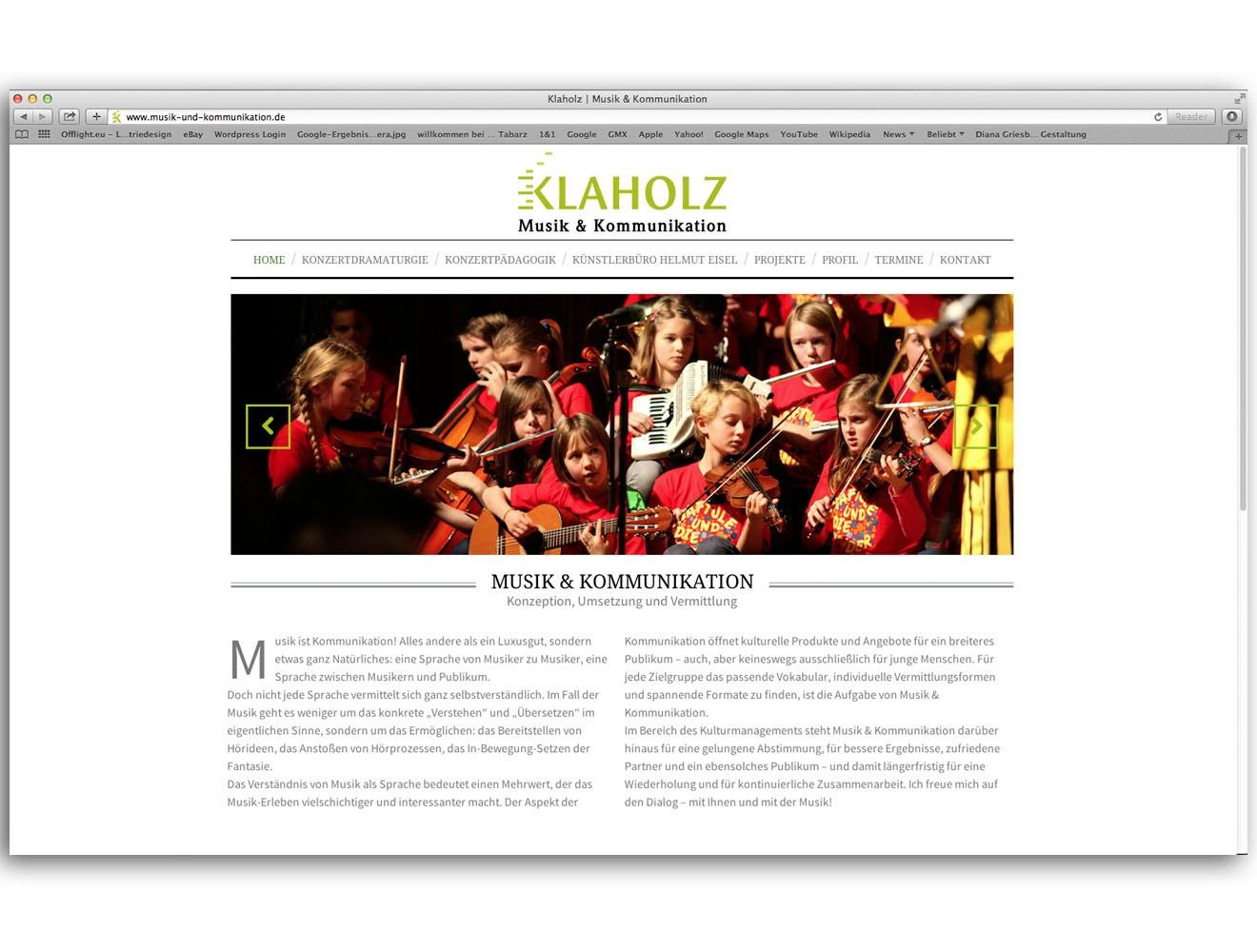 Klaholz // Website / Startseite