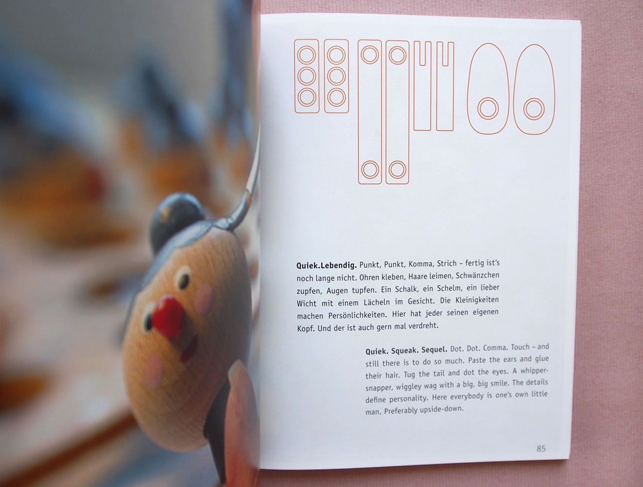 Kellner Steckfiguren // Broschüre / Innenseite / Produktion