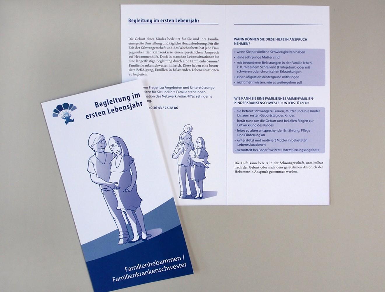 Frühe Hilfen // Folder Familienhebammen