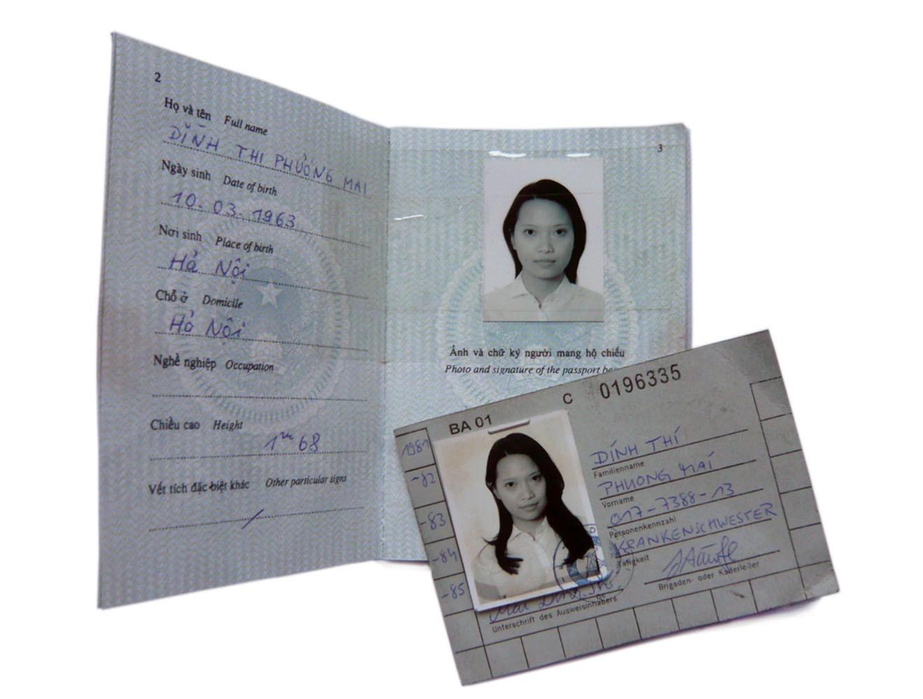 Spezialrequisite // vietnamesischer Pass 60er Jahre