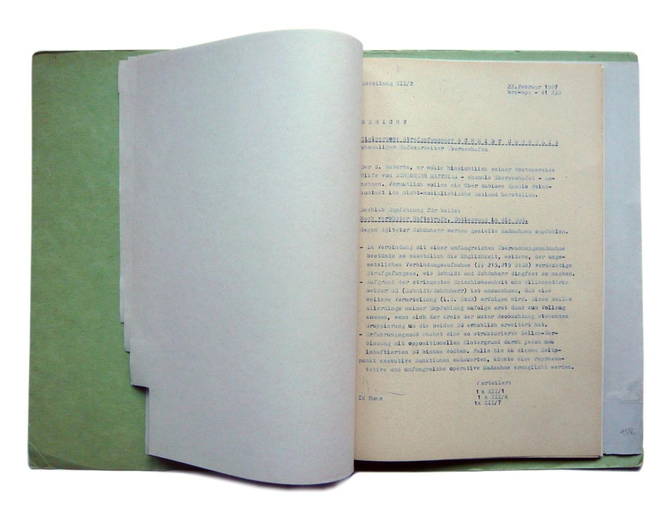 Spezialrequisite // Stasi-Akte, Blaupause