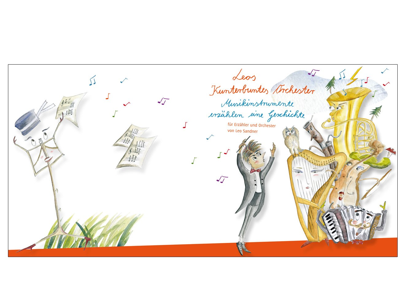 Illustration // Kunterbuntes Orchester