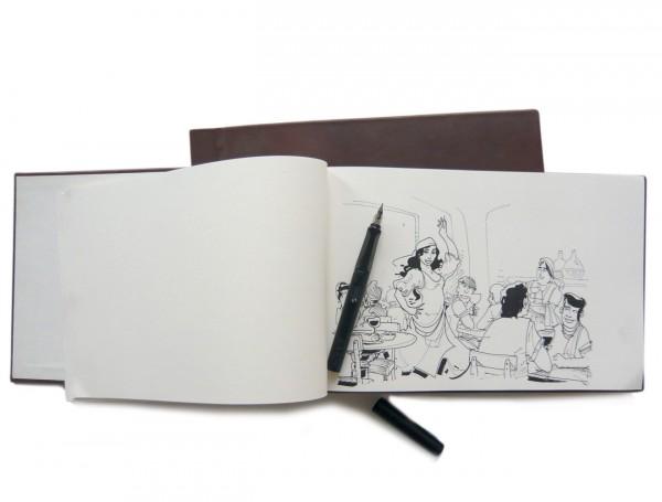 Reisetagebuch // Innenseite mit Skizze