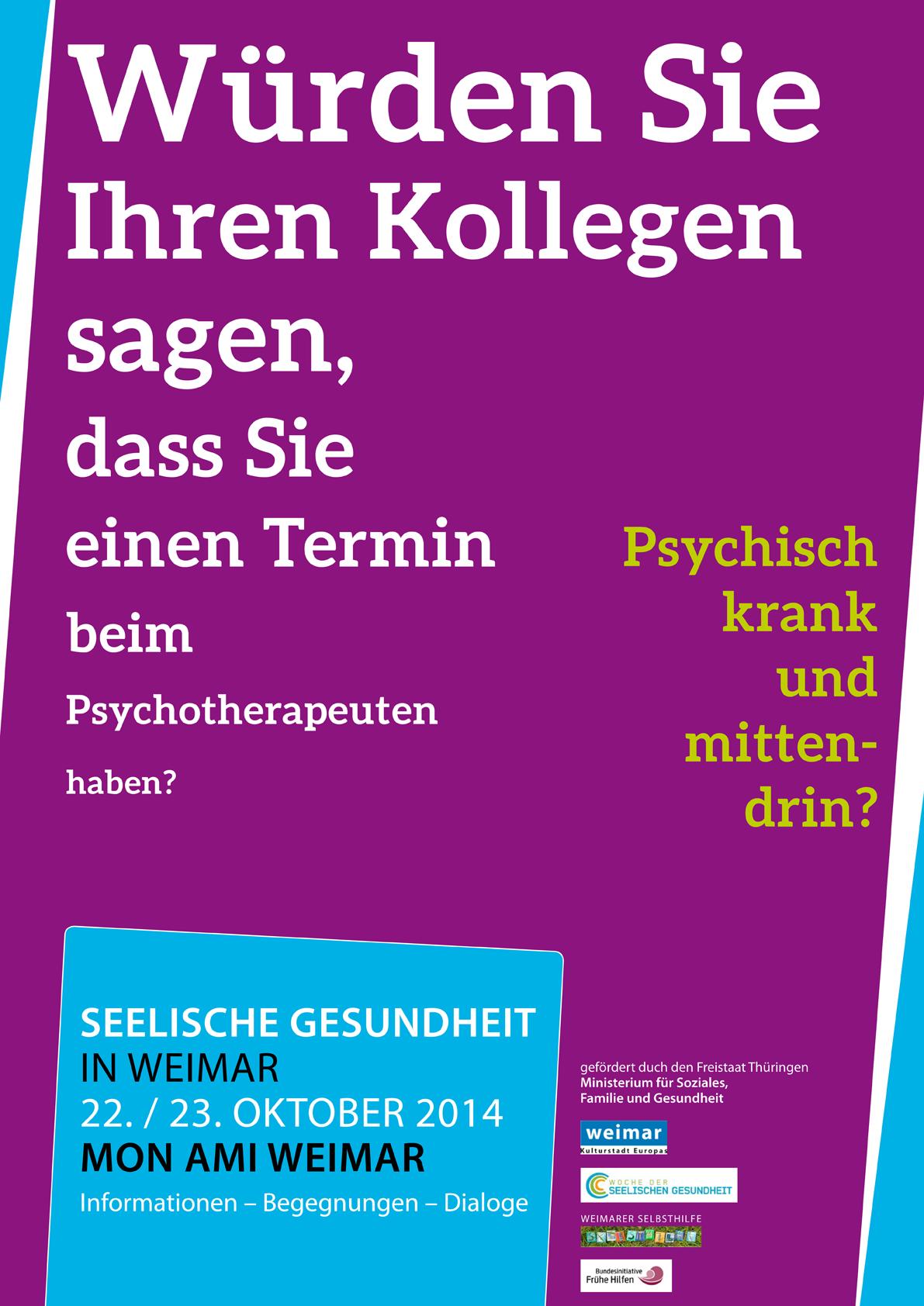 Seelische Gesundheit // Plakat