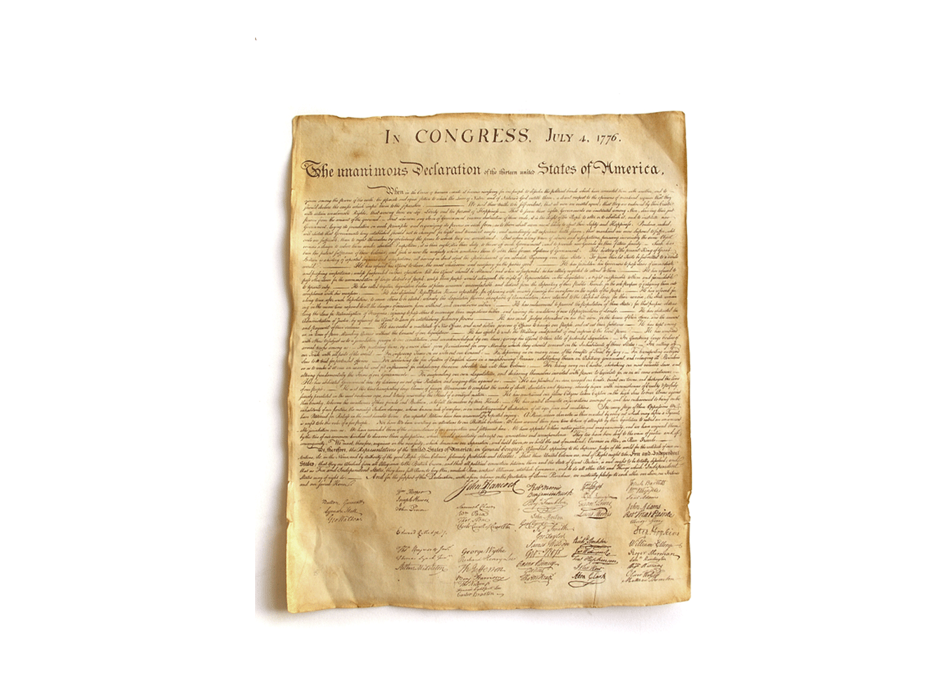 Spezialrequisite // Declaration off Independence (1776)
